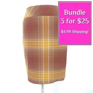 Vintage Tailor B Moss Plaid Wrap Pencil Skirt